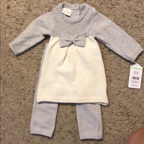 618d4a6244fed Cuddl Duds Dresses | Baby Sweater Dress And Matching Tights | Poshmark